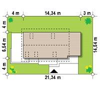 Минимальные размеры участка для проекта Z298