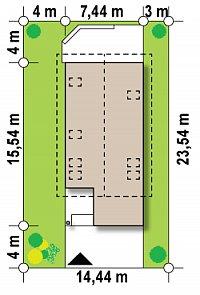 Минимальные размеры участка для проекта Z299