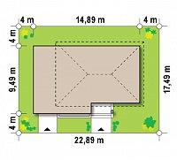 Минимальные размеры участка для проекта Z29