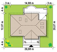 Минимальные размеры участка для проекта Z2