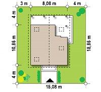 Минимальные размеры участка для проекта Z30 L bl