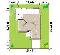 Минимальные размеры участка для проекта Z301