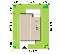 Минимальные размеры участка для проекта Z302
