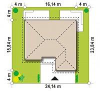 Минимальные размеры участка для проекта Z303