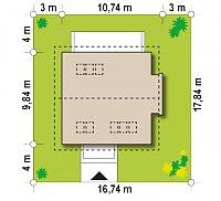 Минимальные размеры участка для проекта Z304