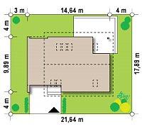 Минимальные размеры участка для проекта Z305
