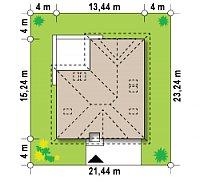 Минимальные размеры участка для проекта Z306