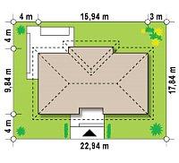 Минимальные размеры участка для проекта Z307
