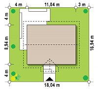 Минимальные размеры участка для проекта Z308