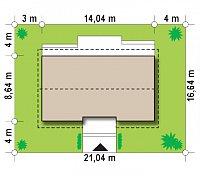 Минимальные размеры участка для проекта Z309