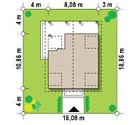 Минимальные размеры участка для проекта Z30