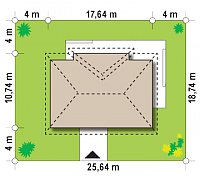 Минимальные размеры участка для проекта Z310