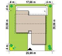 Минимальные размеры участка для проекта Z312