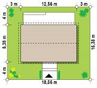 Минимальные размеры участка для проекта Z313