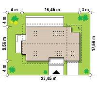 Минимальные размеры участка для проекта Z318