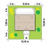 Минимальные размеры участка для проекта Z32
