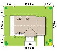Минимальные размеры участка для проекта Z33
