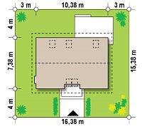 Минимальные размеры участка для проекта Z34