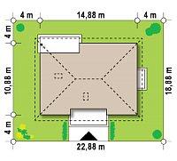 Минимальные размеры участка для проекта Z35 bG