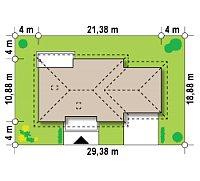Минимальные размеры участка для проекта Z35