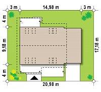 Минимальные размеры участка для проекта Z36