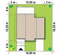 Минимальные размеры участка для проекта Z38 D L GP