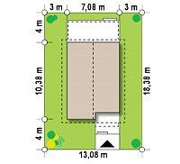 Минимальные размеры участка для проекта Z38