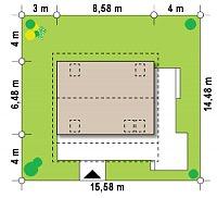 Минимальные размеры участка для проекта Z39