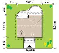 Минимальные размеры участка для проекта Z3