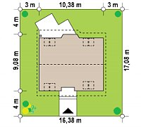Минимальные размеры участка для проекта Z40