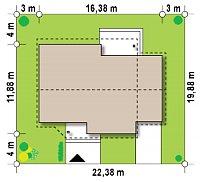 Минимальные размеры участка для проекта Z41 GP
