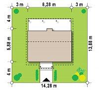 Минимальные размеры участка для проекта Z42
