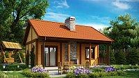 Проект дачного дома с мансардой Z42
