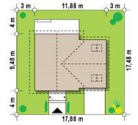 Минимальные размеры участка для проекта Z43