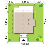 Минимальные размеры участка для проекта Z44
