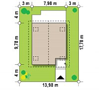 Минимальные размеры участка для проекта Z45