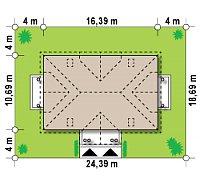 Минимальные размеры участка для проекта Z46