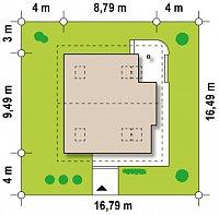 Минимальные размеры участка для проекта Z47