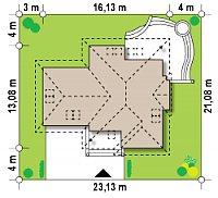 Минимальные размеры участка для проекта Z48