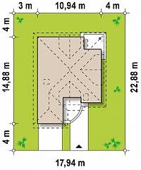 Минимальные размеры участка для проекта Z49