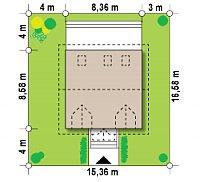 Минимальные размеры участка для проекта Z4