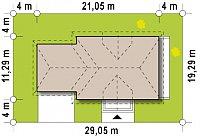 Минимальные размеры участка для проекта Z50 A