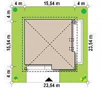 Минимальные размеры участка для проекта Z51