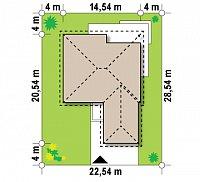Минимальные размеры участка для проекта Z52