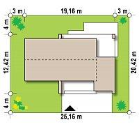 Минимальные размеры участка для проекта Z53