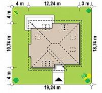 Минимальные размеры участка для проекта Z54