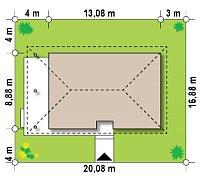 Минимальные размеры участка для проекта Z55