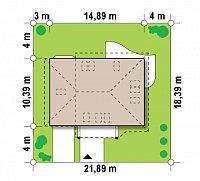 Минимальные размеры участка для проекта Z56 A