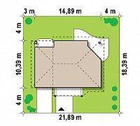 Минимальные размеры участка для проекта Z56