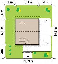 Минимальные размеры участка для проекта Z57